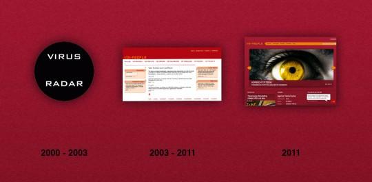 www.virus-radar.de: Im September 2000 ging die erste Webseite von vm-people an den Start